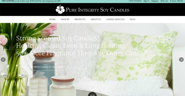 New PI Candle Website