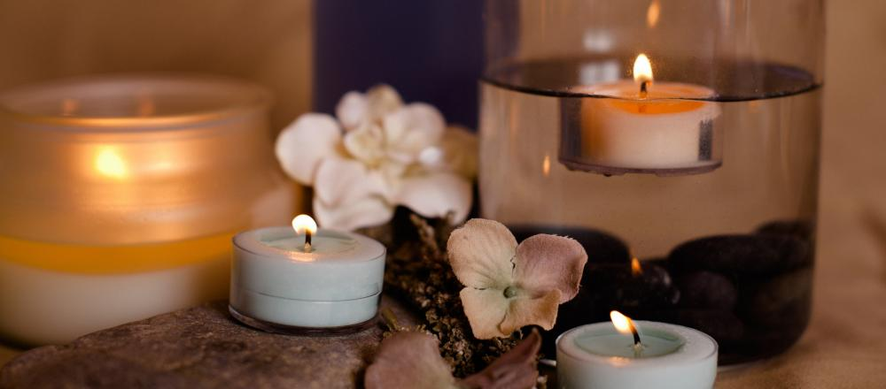 Aromatherapy candle collection long