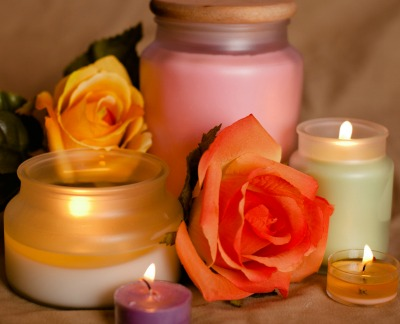 spring floral candles
