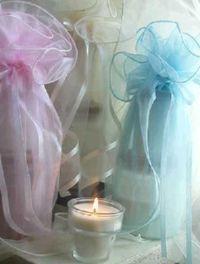 Organza Gift Wrap Candle Set