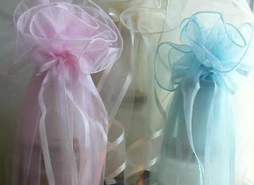 Organza Gift Wrap Candle Set