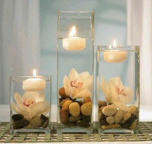 Creative Candle Centerpieces